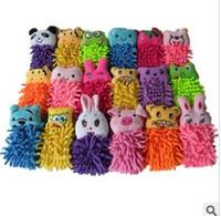 Wholesale Microfiber cartoon Hanging towel designs EMS Cute animal cleaning towel mixed design cm