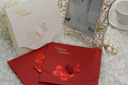 Wholesale Foil Print wedding Invitation with Envelopes