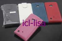 Wholesale For Nokia Lumia Multicolor Vertical FLIP PU Leather case freeshipping