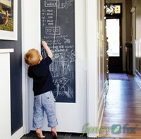 Wholesale Vinyl Blackboard Home Sticker Removable Wall Decal Chalkboard Stickers CMx200CM with Free Chalks