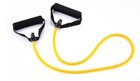 Wholesale free ship new exercise rope yoga tube resistance band tube exercise trainng tube free ship