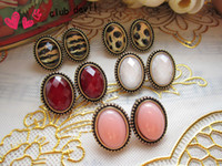 Wholesale W327 retro fashion earrings Miss Han Ban lovely personality gemstone jewelry European and American trade jewelry earrings