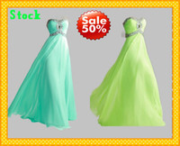 Real Photos Sweetheart Chiffon 2013 Stock Beach Lime Green Sweetheart Sexy Crystal beaded Sheath Sequins Prom Evening Bridesmaid Party Formal Dresses Dress 2013 gown