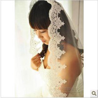 Tulle Lace Edge Three-Layer 3 Mega Drill stereo car bone lace bridal wedding veil