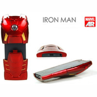 For Apple iPhone apple collectible - 86hero Marvel Iron Man hero MKVII Iron Man Hero Armor Mark VII Collectible Toy Light Up iPhone back cover Case LED Light Reflector MISB