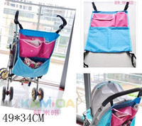 Wholesale Promotion Toddler Blue Baby carriages Pram Stroller Bag Storage Pocket Organizer Diaper Stackers for baby carriers size CM pc
