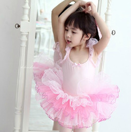 Wholesale Best quality children dance clothes Condole belt tutu yarn girls ballet dress M XXL size Year kids dance dresses baby dress