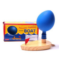 balloons play - Hot schylling wooden boat balloon powered ship a classic children s favorite toys for children playing in the water