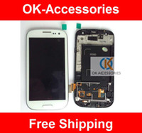 Wholesale lcd touch screen completed for Samsung i9300 galaxy s3 with frame white