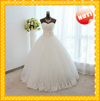 Wholesale Real Image Ball Gowns White Ivory Lace up Ruffles Royal Designer Organza Corset High quality Wedding Bridal Dresses Dress Gowns Cheap