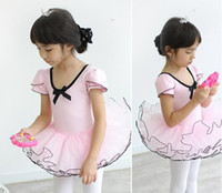 Wholesale Best quality children dance wear Performance Condole belt tutu girls ballet dress Year kids dance dresses size