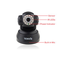 Wholesale Tenvis JPT3815W Wireless IP Camera Security Built in Mic amp Night Vision Motion Monitor