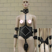 Wholesale Bondage harness Gear with Hand Neck Adult BDSM Sex product Stimulate SM bound PU Material Adult sexy toys wear
