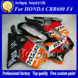 Free Customized REPSOL fairing kits for Honda 1999 2000 CBR 600 CBR600 F4 CBR600F4 99 00 motorcycle fairings kit