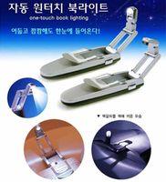 Wholesale energy saving book light led fold clip book lamp telescopic reading led light T9494