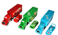 Car TV Movies & Vedio Games Metal Cars 2 Mack Chick hauler Thai Pixar Car Lightning Hick Truck Toy car Kid 3 color with little car