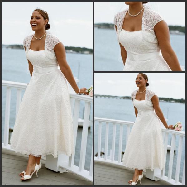 Discount 2016 beach wedding dresses casual custom made for Beach wedding dresses ankle length