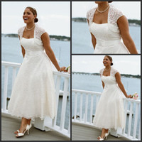 online store - 2013 Beach Wedding Dresses Casual Custom Made Modern Lace Scoop Beading Empire Ankle Length Wedding Dress Bridal Gown Online Stores