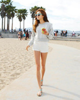 Women Classic Straight Other New Arrival Women's White No Pattern Shorts Korean Stylenanda S M L Shorts Fashion Style Mini Shorts ZXZ06-11