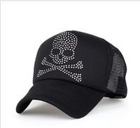 Plain Dyed Twill Woman Cheap Skull Snapback Caps Hats Women Men Rivets Summer Mesh Women 5Colors 5pcs Lot Free Shipping 0605