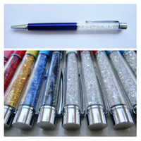 Wholesale 14CM OEM Lady Crystal Ballpoint Pen Send as Gift with Clear Colorful Rhinestone Diamond Replaceable Black Refill DHL