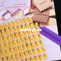 Wholesale Letter and Number Impress DIY Mould Stamp Tools Biscuit Cake Fondant Decorating