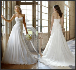 Wholesale 2013 Beach Wedding Dresses In Stock Casual Custom Made Modern Lace Scoop Beading Empire Ankle Length Wedding Dress Bridal Gown Online Stores