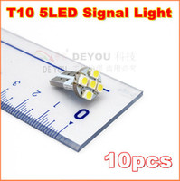 Wholesale 10pcs SMD V T10 W5W LED signal Light car wedge light bulb