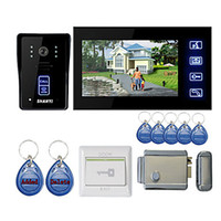 Wholesale 7 quot Touch Panel Video Door Phone System with Electronic Controlling Lock RFID keyfobs