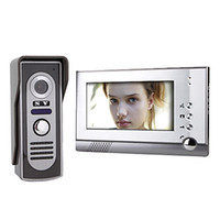 Wholesale 7 Inch Color TFT LCD Video Door Phone Intercom System with Waterproof Camera TVL