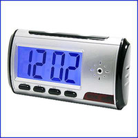Wholesale Digital Spy Camera Alarm Clock with Remote Control and Motion Detection