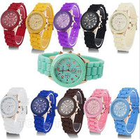 Wholesale 2013 New Fashion Designer Ladies sports brand silicone watch jelly watch colors quartz watches for women men