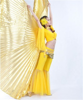 Wholesale Brand new AQY Handmade Belly Dance Costume IsIs Angle Polyester Wings