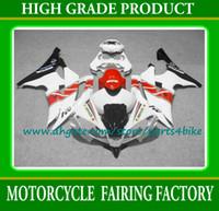 achat en gros de yzf r6 plastiques-Avec 7 cadeaux kit corps carénage papular rouge / noir / blanc pour YAMAHA YZF R6 08 09 10 pièces de carrosserie YZF-R6 2008 2009 carénage en plastique ABS set