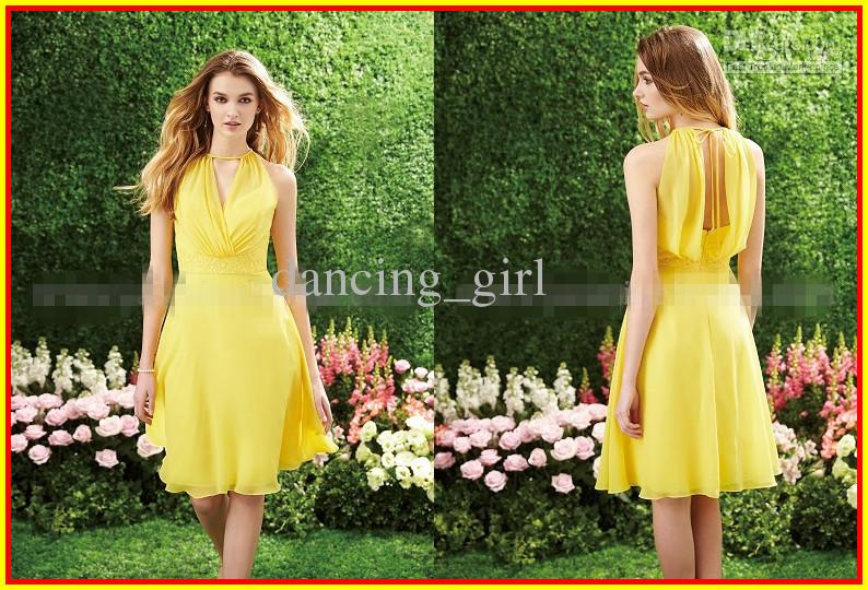 Yellow Summer Bridesmaid Dresses 70