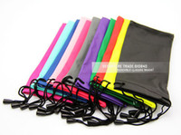 Wholesale waterproof leather plastic sunglasses pouch soft eyeglasses bag glasses case many colors mixed DT0134