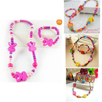 beads necklaces design - children Jewelry Mixed Design Cute Wood Beads Necklace amp Bracelet