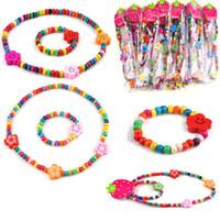 Wholesale Handwork children Kids Cute Wood Beads Necklace amp Bracelet