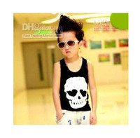 Wholesale Children Tank Tops Popular Fashion Skull Printed Vest Sleeveless T Shirt Child Clothing Boys Tank Tops Kids Summer Casual Vests xb