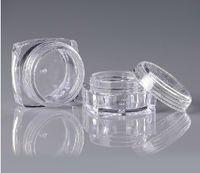 square jar - Cheap Capacity g Square Bott om Clear Plastic Makeup Kit Skin Cosmetic Jars No Inner Cap For Eyeshadow ZH07