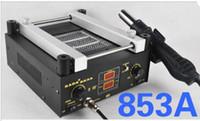 Cheap EMS Free Wholesale - KADA 853A Lead-free BGA preheating Station Hot Air Gun Double LCD Display 220V Or 110V