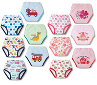 Wholesale baby panties nappies diapers training pants kids briefs Children s Bread Pants Diaper Cover underpants underwear Z151