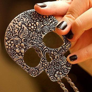 N161 Fashion Gothic Lovely Skull Necklace Jewelry Wholesale! Livraison gratuite