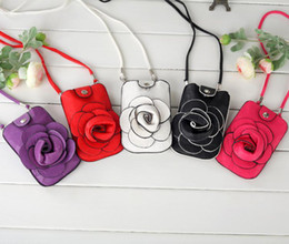Wholesale Y610 Women Rose Floral Iphone Mobile Small Shoulder Bags Cosmetic Purse colours