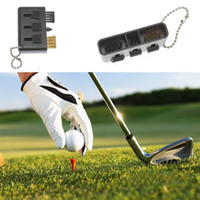 Wholesale 500 in Small Pocket Carry Golf Club Brush Groove Cleaner Kit Black