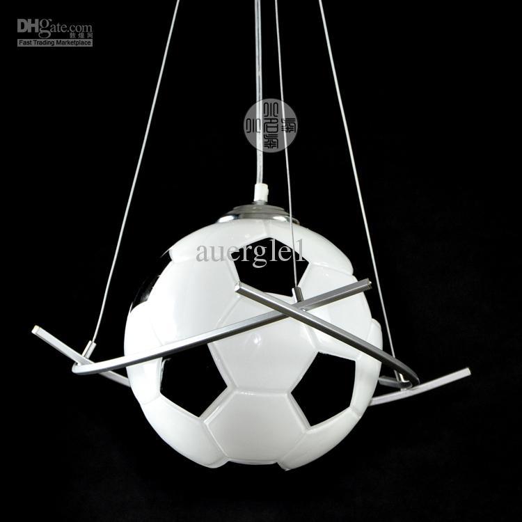 2017 modern brief basketball football pendant light for Boys bedroom light fixtures