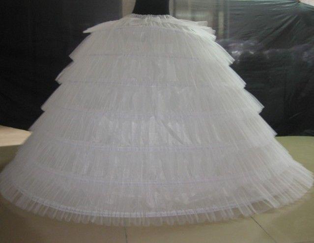 Plus size 6 hoops crinoline petticoat underskirt for for Plus size wedding dress petticoat