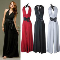 V_Neck A Line other dresses Free shipping, Jumpsuit Rompers Women 2013 High Waist Waistband Decorated Catsuit Sexy V-neck Big Size Red,Black,Grey