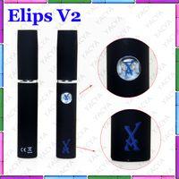 Electronic Cigarette Set Series  Gift Box Elips Flat Electronic Cigarette Elips V2 double Kit Wax Vaporizer pen Ecigs vapor e-cigarette double kit with Charger Free shipping