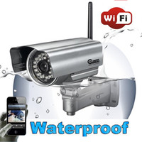 Wholesale Wireless IP Camera Webcam waterproof Cam Surveillance System Security Camera for iphone andriod g smartphone CCTV Wifi